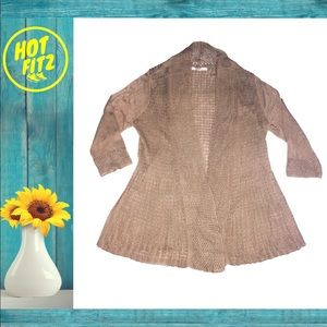 Fever cardigan tan Knitted sweater